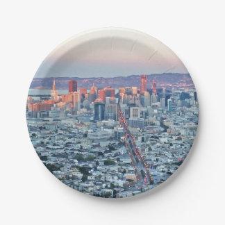 Twin Peaks San Fransisco Paper Plate
