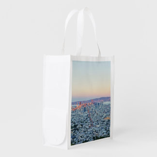 Twin Peaks San Fransisco Reusable Grocery Bags