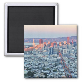 Twin Peaks San Fransisco Square Magnet