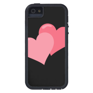 Twin Pink Hearts iPhone 5 Case