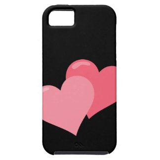Twin Pink Hearts iPhone 5 Cover