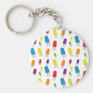 Twin Pops Pattern Basic Round Button Keychain