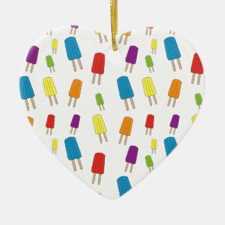 Twin Pops Pattern Ceramic Heart Ornament