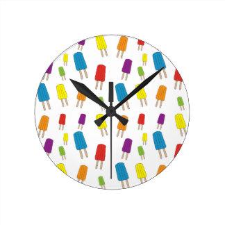 Twin Pops Pattern Round Clock