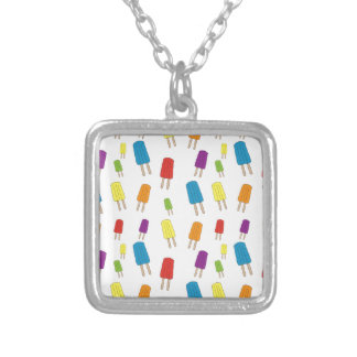 Twin Pops Pattern Silver Plated Necklace