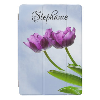 Twin Purple Tulip Blossoms Floral Photography iPad Pro Cover