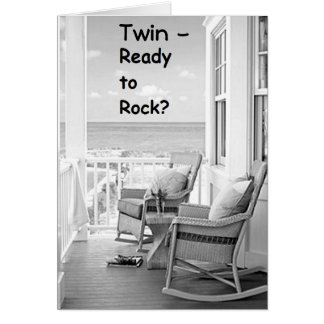 TWIN-READY TO ROCK/ROLL ON YOUR BIRTHDAY? CARD