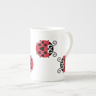 Twin Red Bugs Facing Each Other Mug