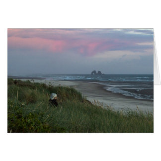 Twin Rocks With Woman Notecard