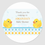 Twin Rubber Duckies Baby Shower Favour Sticker