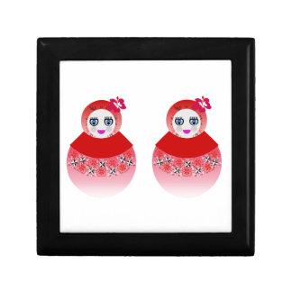 Twin Russian Babushka Dolls Jewelry Box