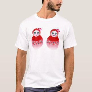 Twin Russian Babushka Dolls T-Shirt