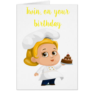 """TWIN SISTER COOKS** BIRTHDAY WISHES FOR YOU CARD"
