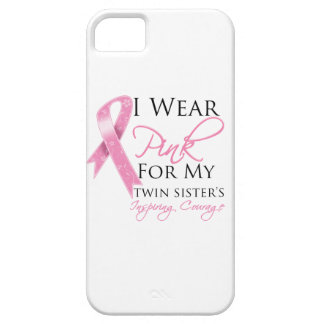 Twin Sister Inspiring Courage Breast Cancer iPhone 5 Case