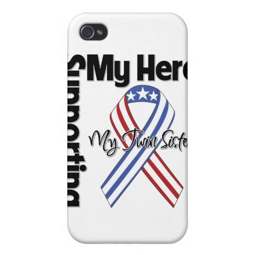Twin Sister - Military Supporting My Hero iPhone 4/4S Cases