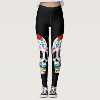 Twin Sugar Skulls Leggings