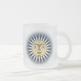 Twin sun frosted glass 10 oz mug
