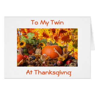 **TWIN**THANKFUL FOR YOU AT THANKSGIVING/ALWAYS CARD