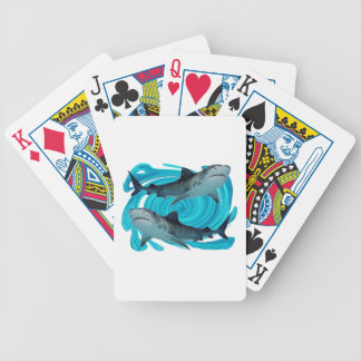 TWIN TIGER SHARKS BICYCLE PLAYING CARDS