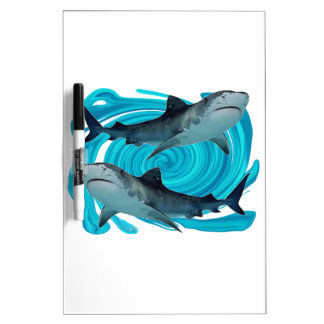 TWIN TIGER SHARKS Dry-Erase BOARD
