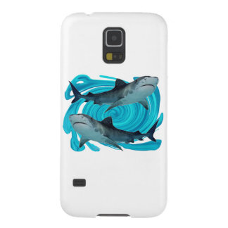 TWIN TIGER SHARKS GALAXY S5 CASE