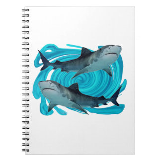 TWIN TIGER SHARKS NOTEBOOKS