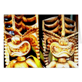 Twin Tikis Card