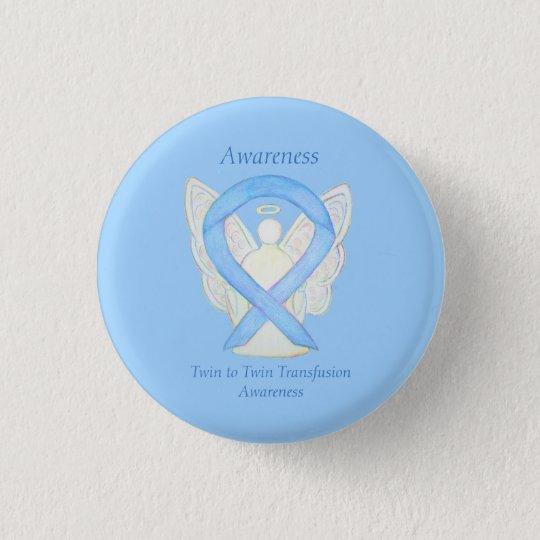 Twin to Twin Transfusion Awareness Ribbon Art Pin