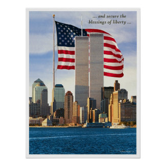 Twin Tower Power Poster