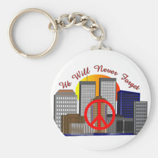 Twin Towers Art Gifts for All Ages Keychain