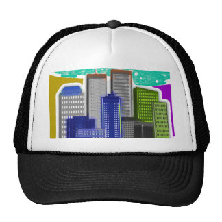 Twin Towers Art--Oil Painting Style---Unique Trucker Hat