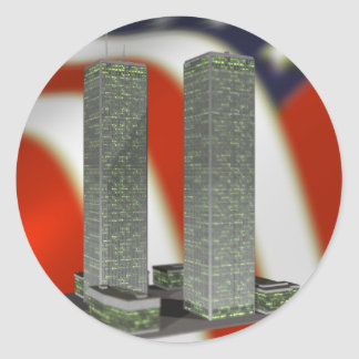 Twin Towers Classic Round Sticker