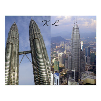 twin towers duo postcard
