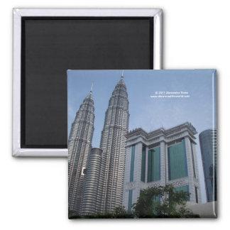 Twin towers Kuala Lumpur Malaysia magnet