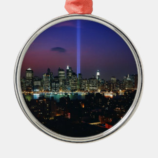 Twin towers metal ornament
