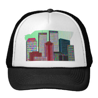 Twin Towers OIL PAINTING #1 Trucker Hat