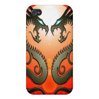 Twin Tribal Dragons iPhone 4 Cover