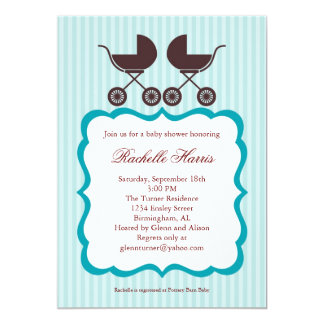 Twin Unisex Baby Shower Invitation