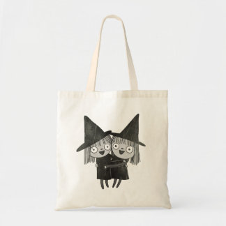 Twin Witch Hug Tote Bag