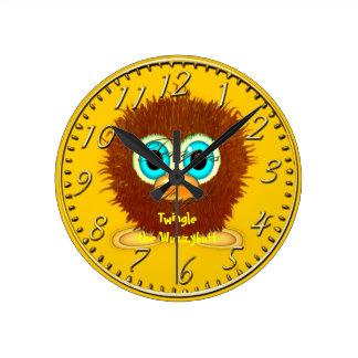 Twingle the Wuzzybutt Kids' Fun Cartoon Clock