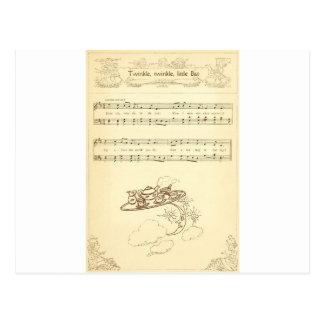 Twink Twinkle Little Bat Lyrics Postcard