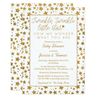 Twink, Twinkle Little Star Baby Shower Card