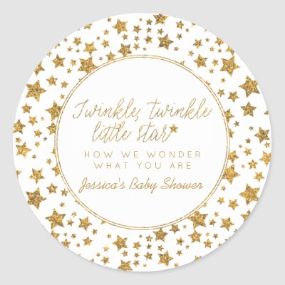 Twink, Twinkle Little Star Baby Shower Thank You Square Sticker | Zazzle.ca