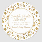 Twink, Twinkle Little Star Baby Shower Favour Classic Round Sticker