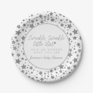 Twink, Twinkle Little Star Baby Shower Paper Plate