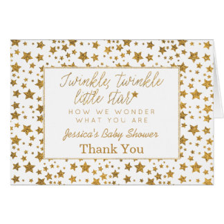 Twink, Twinkle Little Star Baby Shower Thank You Card