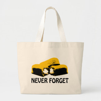 Twinkies Never Forget high contrast design Large Tote Bag