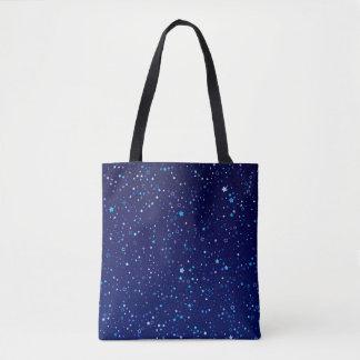 Twinkle Blue Stars2 Tote Bag