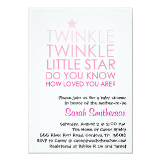 Twinkle Girl Baby Shower Invitation