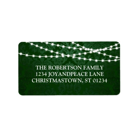Twinkle Lights Christmas Address Labels